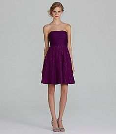 This one is cute Nat, but in black of course. JS Collections Bridesmaid Strapless LaceSkirt Dress #Dillards.