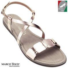 Marco Tozzi női bőr szandál 2-28140-20 952 rózsaszín metál kombi b56c1b4c3b