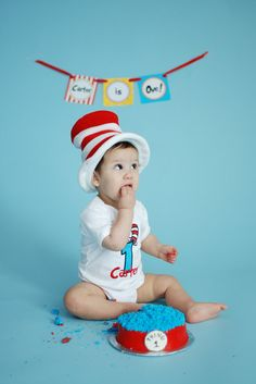 Cat in the Hat Dr. Seuss Birthday Number Tee with by avannabelbaby, $24.98