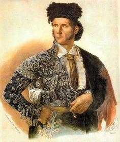 El torero Paquiro. Discípulo de Pedro Romero en la Escuela de Tauromaquia de Sevilla, fue gran innovador de la lidia, especialmente en la suerte de capote. http://es.wikipedia.org/wiki/Paquiro