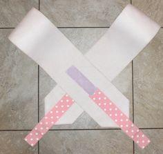 White Pink Polka Dot Ribbon Polo Wraps