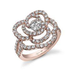 Vintage Rose Gold Diamond Ring