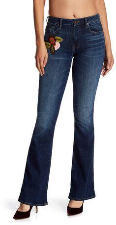 Genetic Denim Hepburn Floral Embroidered Flare Jeans $64.97 http://shopstyle.it/l/z2Vf