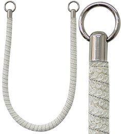Jones Milan Rope Curtain Tieband, White
