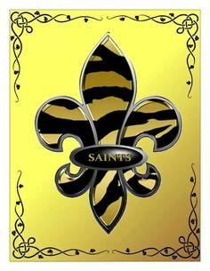Saints fleur de lis wallpaper