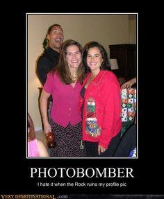 The Rock photobombs