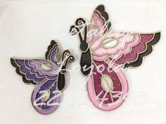 Mariposas de lado imitacion vitral - Detalles Loyola