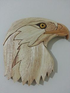 Eagle intarsia. I made it - Tom's Woodworking Shed