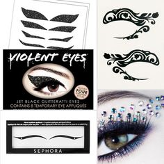 Eyeliner tattoos for the holidays! Cool for a night out!!!