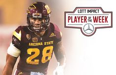 Laiu Moeakiola from Arizona State is the Week 4 Lott IMPACT Player of the Week