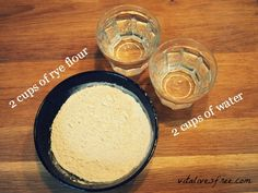 All you need to make a sourdough starter from scratch