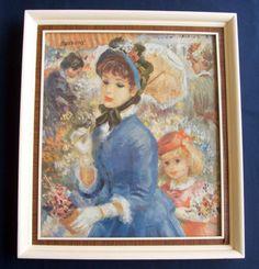 SPLENDID VINTAGE FRAMED FINE ART PRINT BY FAMOUS ARTIST JOHN STREVENS 1902-1990