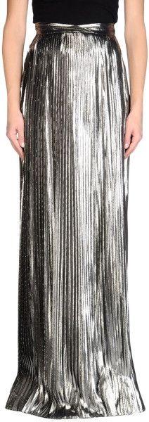 Viktor & Rolf pleated silver maxi skirt