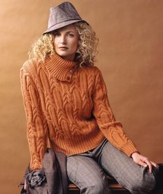 Ladies' Sweater with Cables, S5969 - Free Pattern http://us.schachenmayr.com/free-patterns/ladies-sweater-cables-s5969