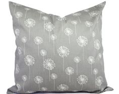 Grey Pillow Covers Grey and White Throw by CastawayCoveDecor