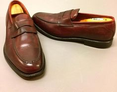 76e01ad6a9b Allen Edmonds Hinsdale BROWN Penny Loafers Slip-On Shoes Mens Size 11 B~NICE