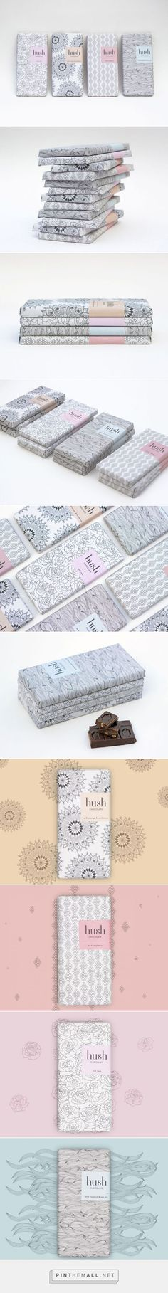 Hush Chocolate Packaging of the World - Creative Package Design Gallery - www. Tea Packaging, Food Packaging Design, Pretty Packaging, Packaging Design Inspiration, Brand Packaging, Branding Design, Bottle Packaging, Packaging Ideas, Geometric Patterns