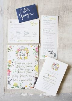 Invitation Suite - Pippin Hill. Designed by Easton Events - Destination Wedding Planners with offices in Charleston, SC and Charlottesville, VA photo by Patricia Lyons