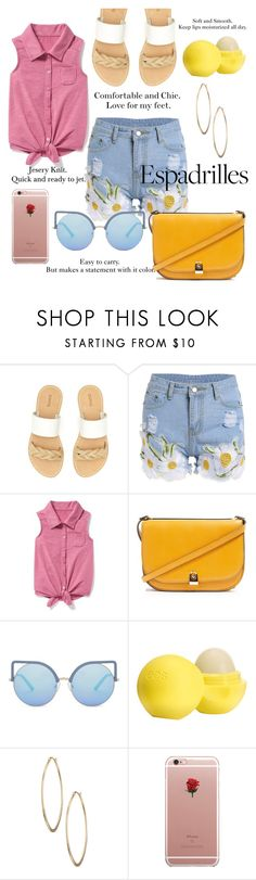 """""""Shop Until Your Heart Is Content!"""" by blackadonia ❤ liked on Polyvore featuring Soludos, Old Navy, Topshop, Matthew Williamson, Eos, Lydell NYC, ETUÍ and espadrilles"""