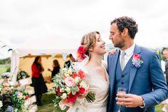 1940s vintage wedding dress by Elizabeth Avey // Tipi wedding in Anglesey // Rachel Hayton Photography
