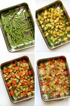 verduras al horno con queso parmesano | receta muy fácil