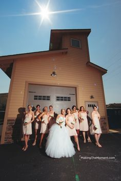 These dresses were so sweet on the girls!   http://www.makingthemoment.com/blog/2012/westwood-country-club-wedding-reception#