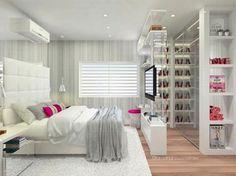 Bedroom Closet Design, Girl Bedroom Designs, Girls Bedroom, Bedroom Decor, Dream Rooms, Luxurious Bedrooms, New Room, Girl Room, Home Interior Design