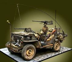 Military Memes, Military Weapons, Plastic Model Kits, Plastic Models, Model Tanks, Military Modelling, Jeep Accessories, Military Diorama, Jeep 4x4