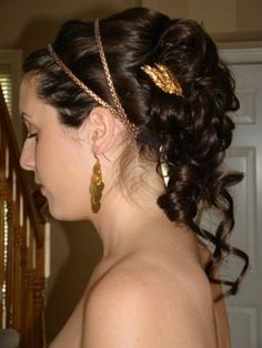 updo greek goddess