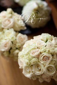 white bridal bouquets  but without the bling?