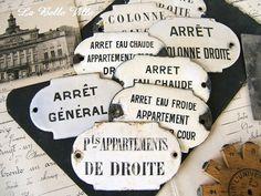 Vintage French enamel sign  One antique enameled by LaBelleVille
