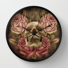 Skull And Rose's 2 Wall Clock