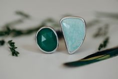 Chrysoprase and Turquoise ring Celestial Wedding, Mystic, Gemstone Rings, Sparkle, Turquoise, Jewelry, Jewlery, Jewerly, Green Turquoise