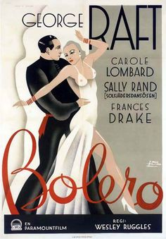Bolero movie poster (1934).