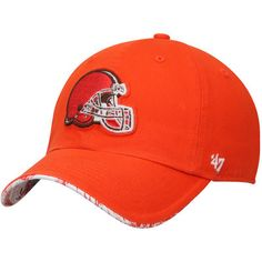 Cleveland Browns  47 Brand Women s Olivia Clean Up Adjustable Hat - Orange 4ce37afab