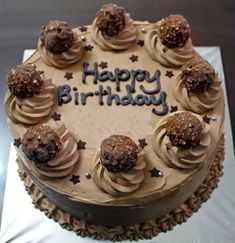 Happy Birthday Chocolate Cake Of Shrikant Dada Sec Happy