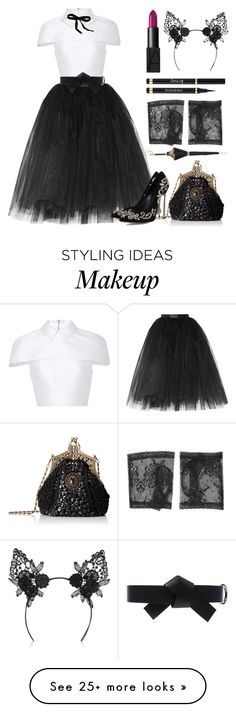 """Halloween Party Queen"" by queenofspades97 on Polyvore featuring Ballet Beautiful, Cushnie Et Ochs, Emporio Armani, Mimi Holliday by Damaris, Yves Saint Laurent, NARS Cosmetics, Marni, Pasotti Ombrelli, Gucci and Halloween"