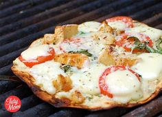 Grilled Italian Pizza...looks creative and delicious #dinner #recipes