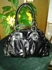 Fashion handbag. V beautiful. V big purse shiny leather free ship for $19.99