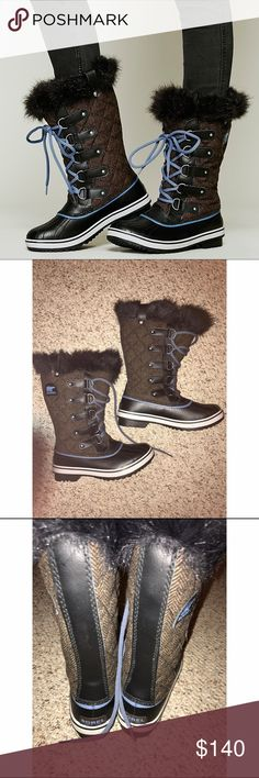 {Sorel} NWOT Tofino Casual Waterproof Boots Only worn once! Waterproof. Feel free to make me an offer! Sorel Shoes Winter & Rain Boots