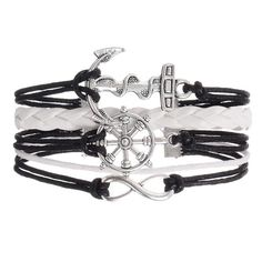 Give the gift of an infinity anchor charm wrap bracelet to remember your…