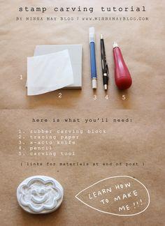 stamp carving tutorial