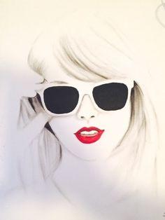 Art print from an ORIGINAL DRAWING Custom Portrait Fine Art Drawing of Taylor Swift