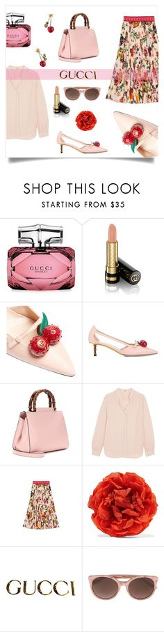 """Posh & Pink"" by metter1 ❤ liked on Polyvore featuring Gucci and L'Agence"