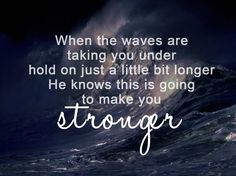 """""""Stronger"""" - Mandisa (I sing this when I'm exercizing :) Just think about it in that context..it's kinda funny) """"the pain ain't gonna last forever, and things can only get better this is gonna make you STRONGER!"""""""