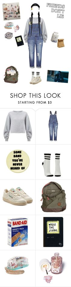 """""""Stranger Things OC: Nine"""" by userless-0 ❤ liked on Polyvore featuring Miss Selfridge, City Chic, Charlotte Russe, Reebok, Roxy, Urban Outfitters, Jil Sander and Sugarpill"""
