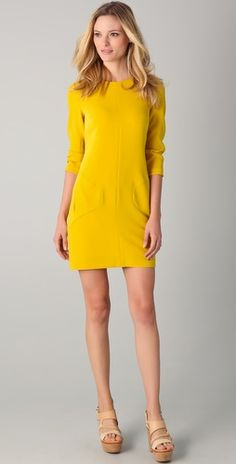 Bright sunshine yellow! Rag & Bone Harlow dress.