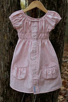I bought 2 of these dresses (made from men's dress shirts) for Gracie, and just love them!
