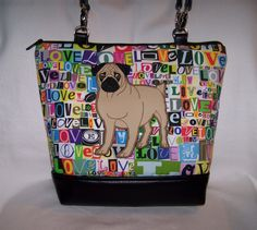 A personal favorite from my Etsy shop https://www.etsy.com/listing/504220539/pug-purse-in-love-fabric-handbag-bag
