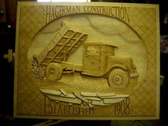 Hand carved dump truck by Roger Strautman (11/27/2012) View details here: http://lumberjocks.com/projects/74782